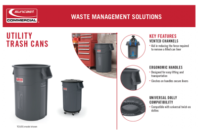 Utility Trash Cans