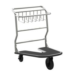 Nesting Luggage Cart with Rubber Platform