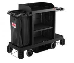 Partially Assembled Housekeeping Cart - Platinum