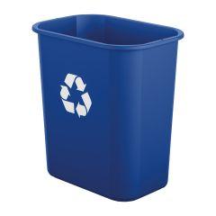 3 Gallon Desk-Side Resin Trash Can - Blue