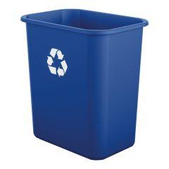 7 Gallon Desk-Side Resin Trash Can - Blue